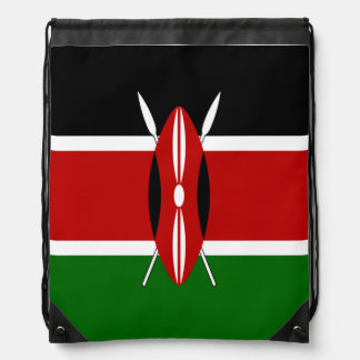 Kenya Flag Drawstring Bag