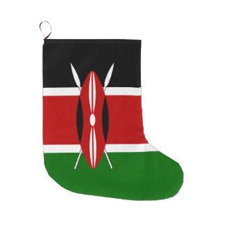 Kenya Flag Large Christmas Stocking