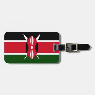 Kenya Flag Luggage Tag