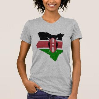 Kenya flag map T-Shirt
