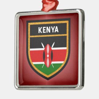 Kenya Flag Metal Ornament