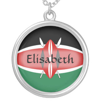 Kenya Flag + Name Necklace