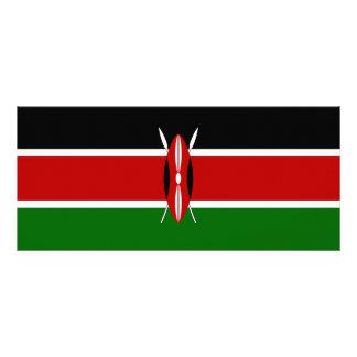 Kenya Flag Rack Card