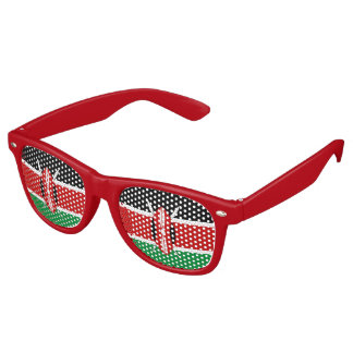 Kenya Flag Retro Sunglasses