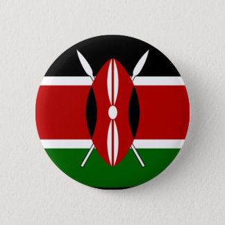 Kenya Flag Shirt 6 Cm Round Badge