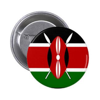 Kenya Flag Shirt 6 Cm Round Badge