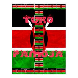 Kenya Flag Tuko Pamoja Postcard