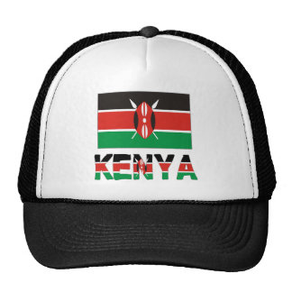 Kenya Flag & Word Cap
