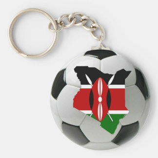 Kenya football soccer basic round button key ring