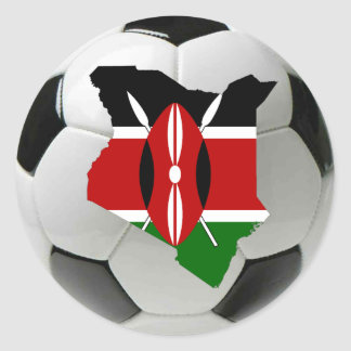 Kenya football soccer classic round sticker