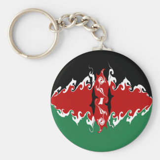 Kenya Gnarly Flag Keychain