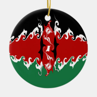 Kenya Gnarly Flag Ornament