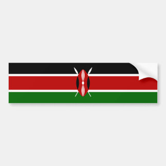 Kenya/Kenyan Flag Bumper Sticker