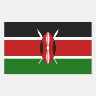 Kenya/Kenyan Flag Rectangular Sticker