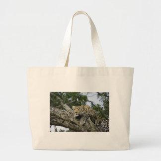 Kenya Leopard Tree Africa Safari Animal Wild Cat Large Tote Bag