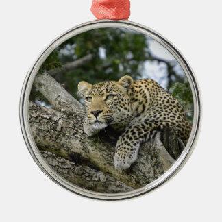 Kenya Leopard Tree Africa Safari Animal Wild Cat Metal Ornament