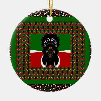 Kenya lovely heats ceramic ornament