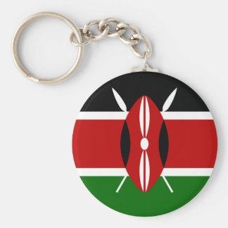 Kenya National World Flag Key Ring