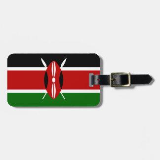 Kenya National World Flag Luggage Tag