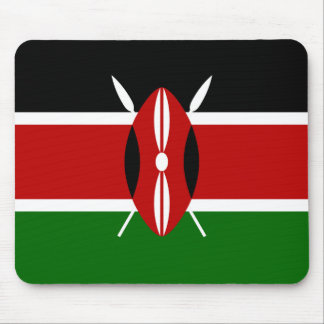 Kenya National World Flag Mouse Pad