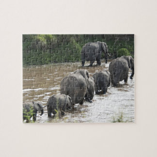 Kenya, No Water No Life Mara River Expedition, 2 Jigsaw Puzzle