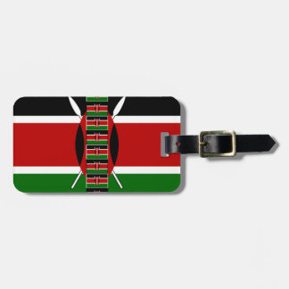 Kenya Seamless Flags border frames Luggage Tag