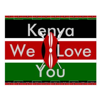 Kenya we love You Postcard