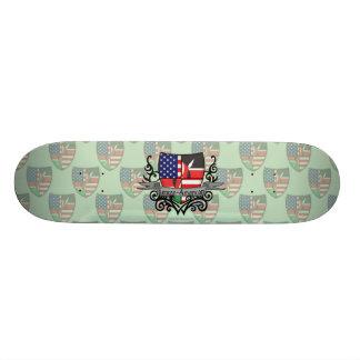 Kenyan-American Shield Flag 20.6 Cm Skateboard Deck