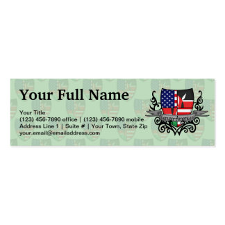 Kenyan-American Shield Flag Double-Sided Mini Business Cards (Pack Of 20)