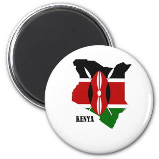 Kenyan Map and Flag Magnet