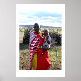 KENYAN MOTHER AND BABY IN KENYA POSTER
