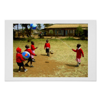 KENYAN SCHOOL CHILDREN IN KENYA POSTER