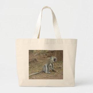 Kenyan Vervet Monkey Bag, African Safari Collectio Jumbo Tote Bag