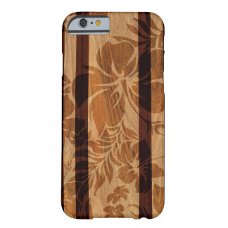 Keokea Beach Faux Wood Surfboard Barely There iPhone 6 Case