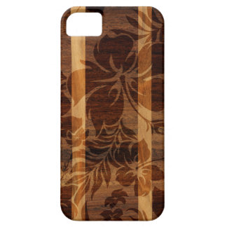 Keokea Beach Faux Wood Surfboard iPhone 5 Cases