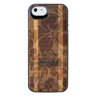 Keokea Beach Faux Wood Surfboard iPhone SE/5/5s Battery Case