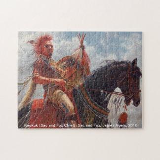 Keokuk, Sac and Fox Native American Chief Jigsaw Puzzle