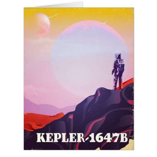 Kepler - 1647B travel poster Card