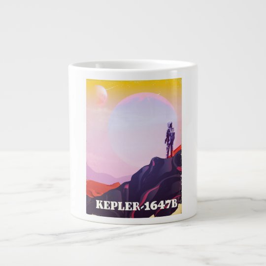 Kepler - 1647B travel poster Large Coffee Mug