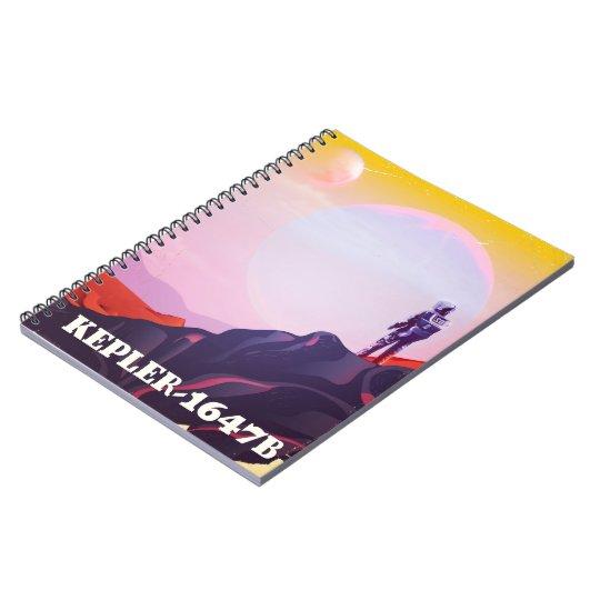 Kepler - 1647B travel poster Notebooks