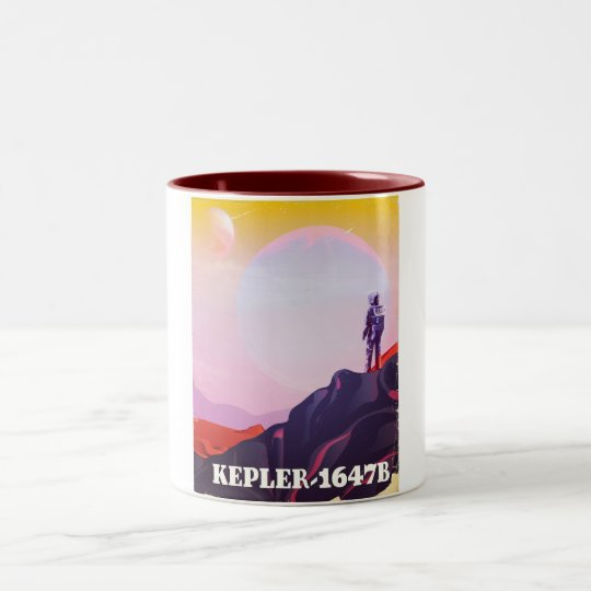 Kepler - 1647B travel poster Two-Tone Coffee Mug