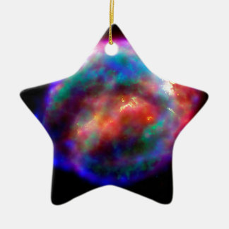 Kepler's Supernova Remnant Ceramic Star Decoration