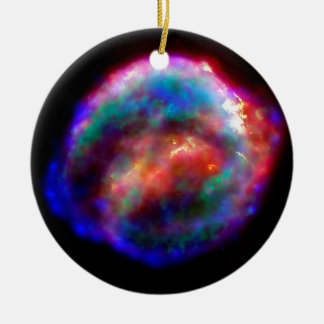 Kepler's Supernova Remnant NASA Hubble Space Photo Ceramic Ornament