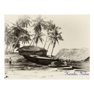 Kerala fishing village postcard
