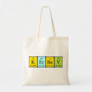 Kerbey periodic table name tote bag