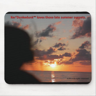 Ker'Dunkedunk Bear sunset mousepad
