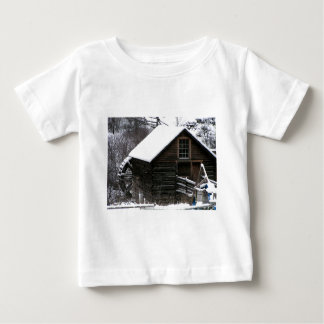 Keremeos Grist Mill in Winter Baby T-Shirt
