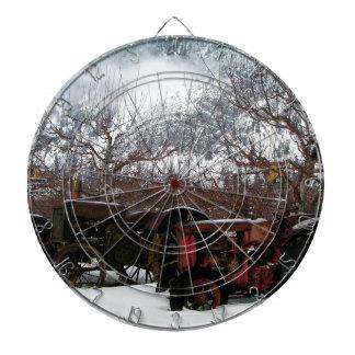 Keremeos Orchard in Winter Dartboard