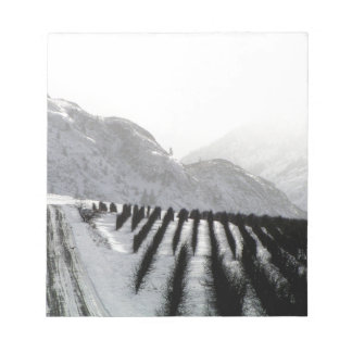 Keremeos orchard in winter on the benches notepad