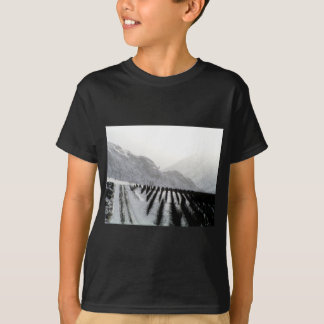 Keremeos orchard in winter on the benches T-Shirt